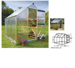 Picture of Juliana Basic 450 Cold Weather Greenhouse with Heater Base Kit,...