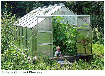 Picture of Juliana Compact Plus 12.1 Cold Weather Greenhouse with Heater,...