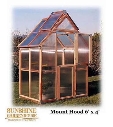 Picture of Sunshine Mt. Hood 6 x 4 GardenHouse Greenhouse w/bench