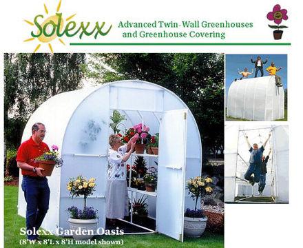 Picture of Solexx Gardener's Oasis 8x8 Greenhouse