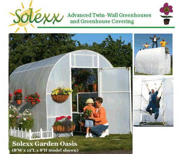 Picture of Solexx Gardener's Oasis 8x12 Greenhouse