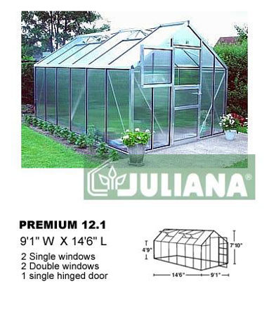 Picture of Juliana Premium 13.0 Cold Weather Greenhouse with Heater, Base...