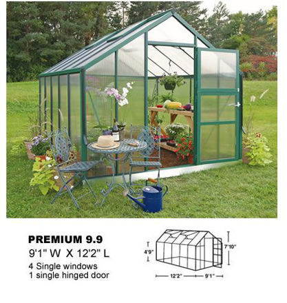 Picture of Juliana Premium 10.9 Cold Weather Greenhouse with Heater, Base Kit,...
