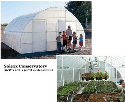 Picture of Solexx Conservatory 16x20 Greenhouse