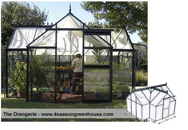 Picture of Exaco Junior Orangerie Glass Greenhouse kit 10 ft  x 13 ft