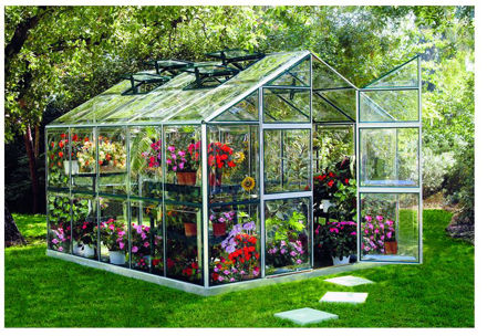 Picture of Cold Weather MiniPro 8' x 10' PC Greenhouse with Heater Kit and Vent Openers
