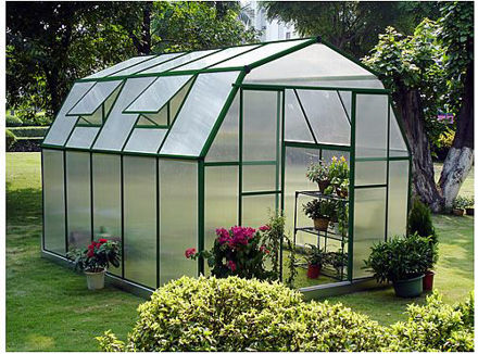 Picture of Sundog Cold Weather Large Barn Greenhouse 9' W x 5' L with Heater, Base Kit and Anchors, and Vent Openers