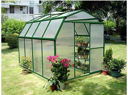 Picture of Sundog Cold Weather Small Barn Greenhouse 6' W x 10' L with Heater, Base Kit and Anchors, and Vent Openers- Needs Revision
