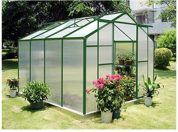 Picture of Sundog Cold WeatherTraditional Greenhouse 9 x 5 with Heater, Base Kit and Anchors, and Vent Openers