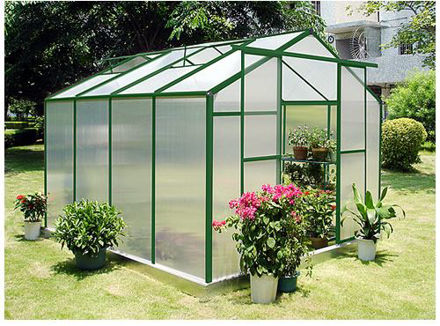 Picture of Sundog Cold WeatherTraditional Greenhouse 9 x 12 with Heater, Base Kit and Anchors, and Vent Openers