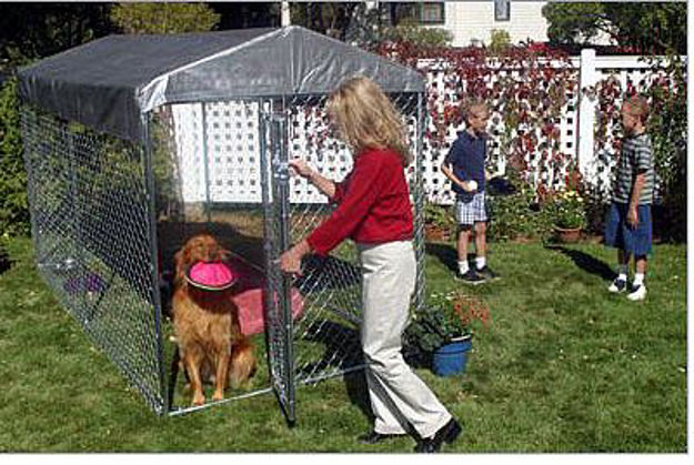Picture of Yard Guard Lucky Dog Box Kennel 7'H x 5'W x 10'L