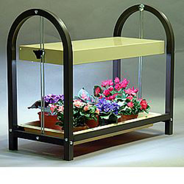 Picture of Compact Lite Single Shelf Brown Plant Cart