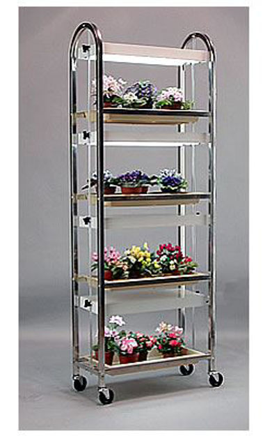 Picture of Compact Lite 4 Shelf Plant Cart w/Wheels