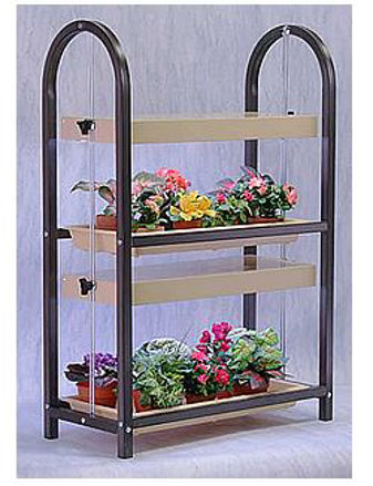 Picture of Compact Lite 2 Shelf Brown Plant Cart