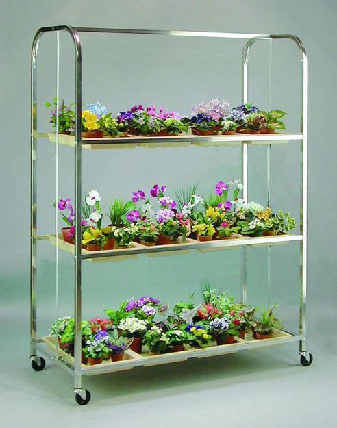 Picture of Full Size Lite Cart 3 Shelf / 12  Tray w/Wheels