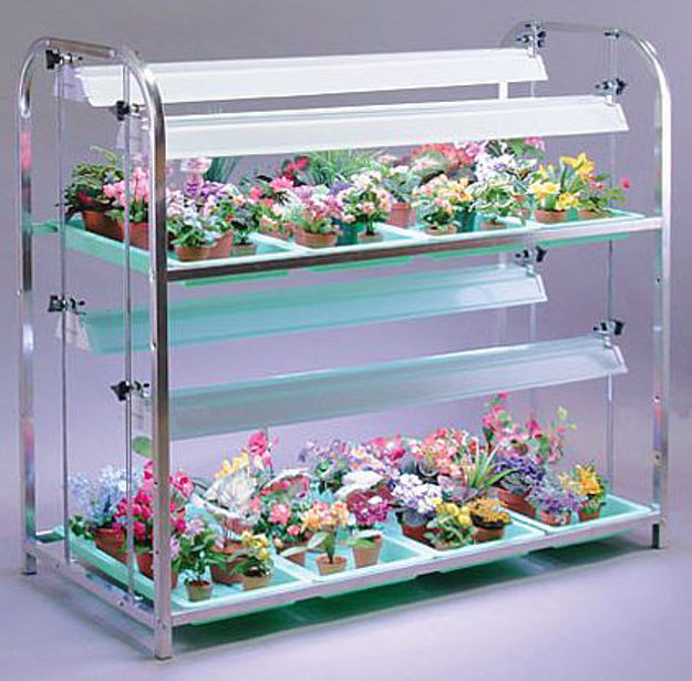 Picture of Super Value Growing Aluminum Stand 2 Shelf - 8 Tray
