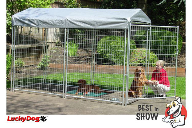 Picture of Best In Show Lucky Dog Box Kennel 6'H x 5'W x 10'L