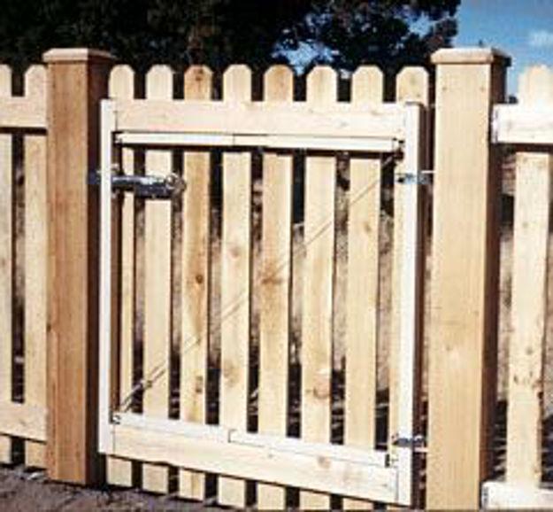 "Picture of Adjust-A-Gate Gate Kit 2 Rail 45"" high gate, 36""-60"" wide"
