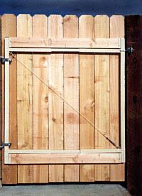 "Picture of Adjust-A-Gate Gate Kit 3 Rail 60"" high gate, 36""-60"" wide"