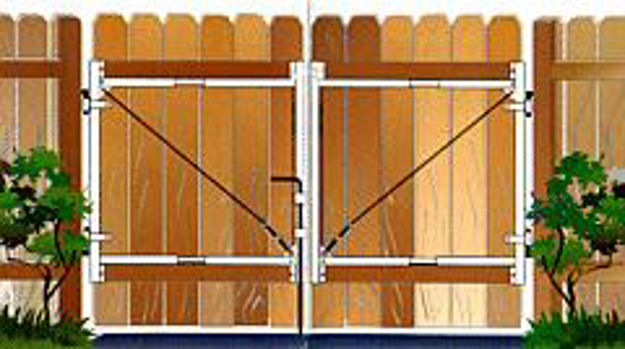 Picture of Adjust-A-Gate Gate Double Swing Drop Rod Kit