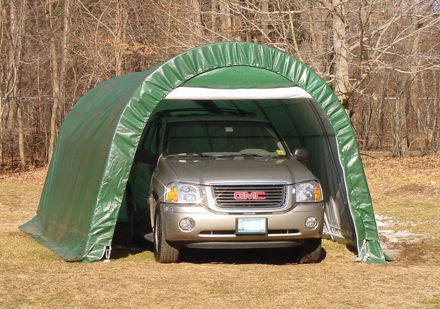 Picture of 12 x 20 x 8 Round Style Portable Garage