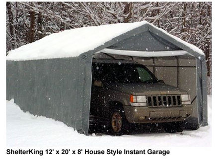 Picture of 12 x 20 x 8 House Style Portable Garage