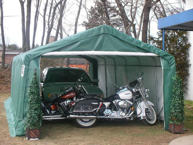 Picture of 12 x 24 x 8 House Style Portable Garage