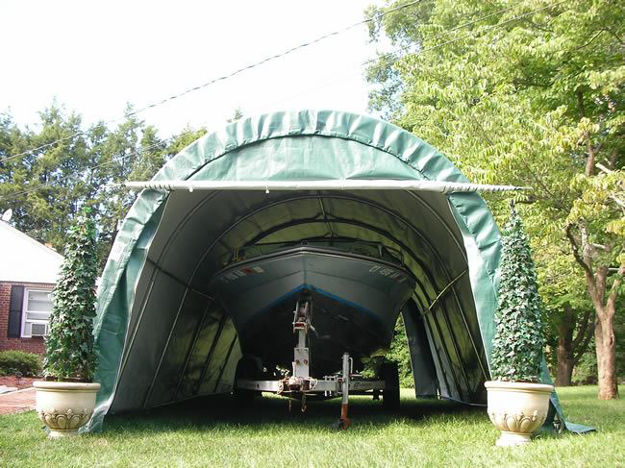 Picture of 12 x 24 x 8 Round Style Portable Garage