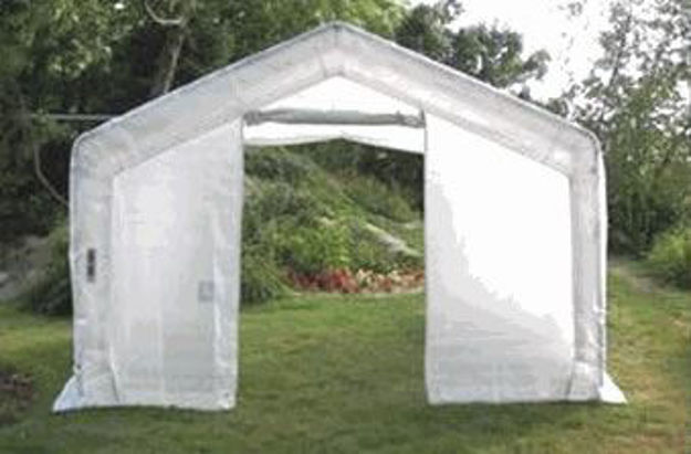 Picture of 12 x 20 x 8 House Style Greenhouse