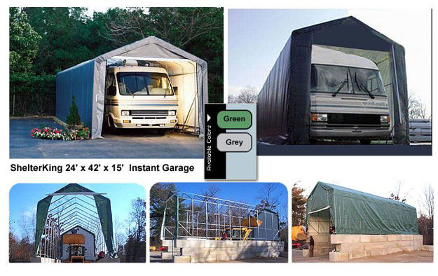 Picture of ShelterKing 14 x 42 x 15 House Style Instant Garage
