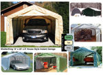 Picture of MDM Rhino Shelter 12 x 20 x 8 House Style Portable Garage