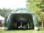 Picture of ShelterKing 12 x 24 x 8 Extended Round Portable Garage