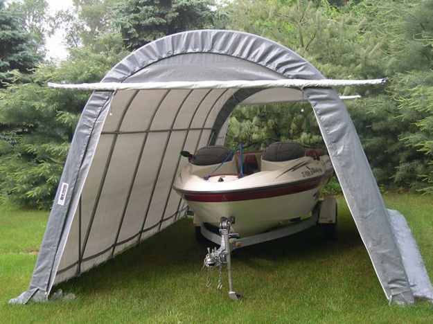 Picture of ShelterKing 14 x 24 x 10 Round Style Portable Garage