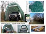 Picture of ShelterKing 14 x 30 x 12 Round Style Portable Garage