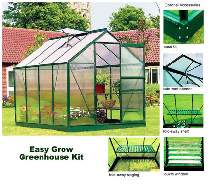 Picture of Easy Start 6' x 8' Greenhouse Kit