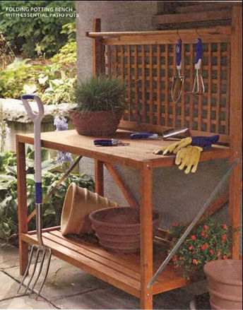 Picture of Folding Wood Potting Bench