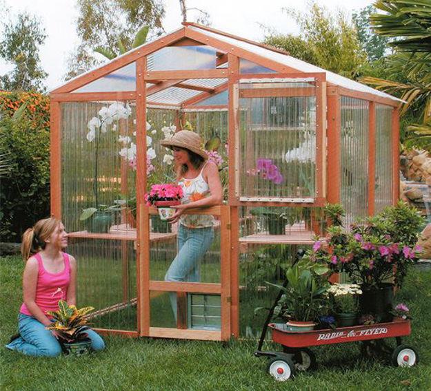 Picture of Alameda 7' W x 8' L Redwood Greenhouse kit