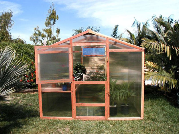 Picture of Alameda 9' W x 20' L Redwood Greenhouse kit