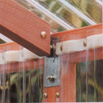 Picture of Alameda 7' W x 12' L Redwood Greenhouse kit