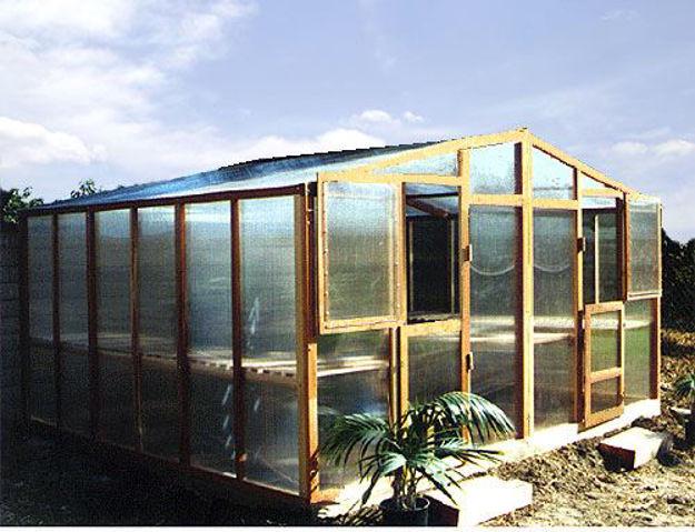 Picture of Alameda 14' W x 24' L Redwood Greenhouse kit