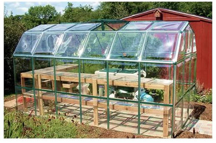 Picture of Enthusiast 6' x 16' Clear Poly Greenhouse Kit