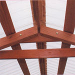 Picture of Mariposa Lean-To 7' W x 12' L Redwood Greenhouse