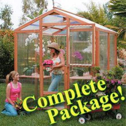 Picture of Alameda Package 7' W x 4' L Redwood Greenhouse