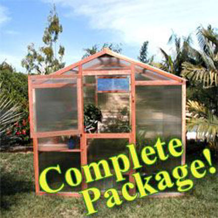 Picture of Alameda Package 9' W x 8' L Redwood Greenhouse