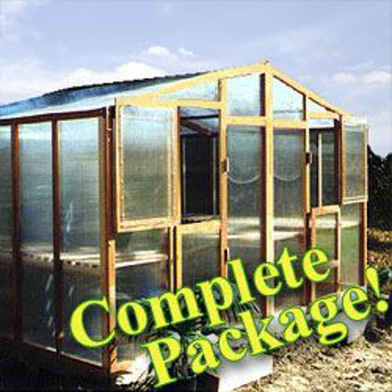 Picture of Alameda Package 14' W x 24' L Redwood Greenhouse