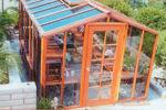 Picture of Riverside 9' W x 20' L Redwood Greenhouse kit