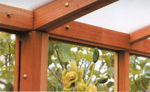 Picture of Riverside 11' W x 20' L Redwood Greenhouse kit
