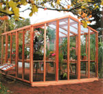 Picture of Riverside 11' W x 16' L Redwood Greenhouse kit