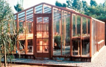 Picture of Riverside 15' W x 8' L Redwood Greenhouse kit