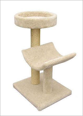 Picture of Scratch Post with Bed and Cradle